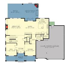 Floor Plan With Roof Plan by Spacious Craftsman With Roof Deck 23642jd Architectural