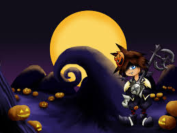 mlp halloween background chibi sora halloween town by clemikinkajou on deviantart