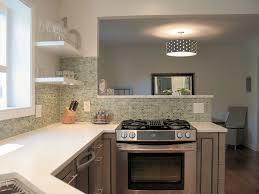 kitchen stove in peninsula finishes kraftmaid cabinets birch
