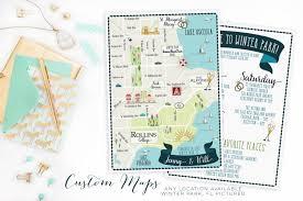 Arcadia Florida Map by Custom Wedding Map Any Location Available Winter Park Florida
