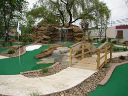 Backyard Golf Hole by Our 18 Hole Miniature Golf Course At Chip U0027s Clubhouse In Chardon Ohio