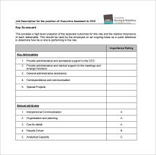 Secretary Job Description For Resume by 10 Executive Assistant Job Description Templates U2013 Free Sample
