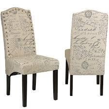 amazon com cortesi home miller dining chair in beige script