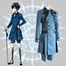 blue halloween costume kuroshitsuji black butler ciel phantomhive cosplay costume double