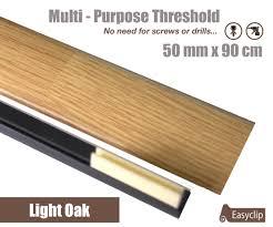Laminate Flooring No Transitions Light Oak Laminated Transition Threshold Strip 50mm X 90cm Multi