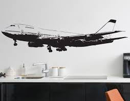 military wall decal designs 747 airplane vinyl wall decal sticker 6031