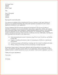 Example For Resume by Administrative Position Cover Letter 9 Example For Resume Cover