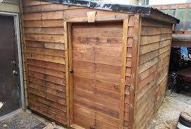 How To Build A Storage Shed Plans Free by Finished Pallet Shed From Free Materials 6 Youtube