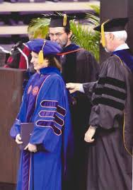 Graduate Studies   Clemson University  South Carolina Clemson University Bill Pennington hooding Jennifer Kaufman