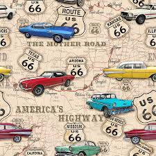 Route 66 Arizona Map by Route 66 Muscle Car Map Jp3961 Digital Art By Jean Plout