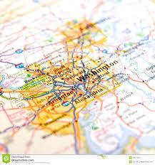 Map Of Washington Cities by Road Map Of Virginia Around Washington D C Stock Photo Image