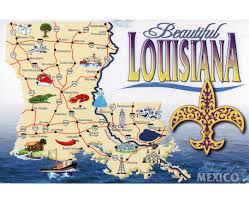 louisiana tourism map map