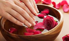 shellac manicure package primpt and polished hair and nail