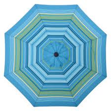 Paint Patio Umbrella by Shop Allen Roth Teal Green Stripe Market Patio Umbrella Common