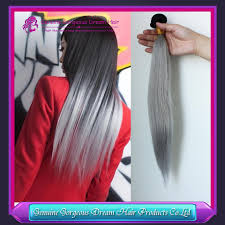 Grey Human Hair Extensions by Invisible Strands Hair Extensions
