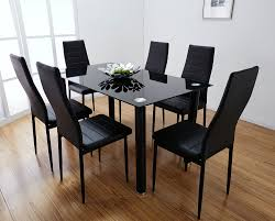 chair black glass dining table and 6 chairs uotsh amusing black glass dining table and 6 chairs elegant black glass dining room table 98 on