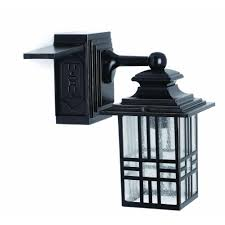 hampton bay mission style black with bronze highlight outdoor wall