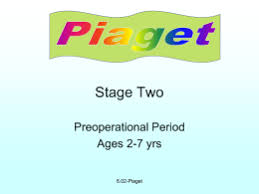 Stage Two Preoperational Period Ages     yrs      Piaget