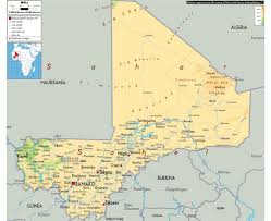 Physical Map Africa by Maps Of Mali Detailed Map Of Mali In English Tourist Map