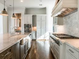 bathroom elegant kitchen island design with super white quartzite