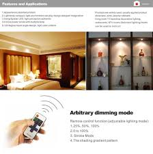 Lights Under Kitchen Cabinets Wireless by Aiboo Led Under Cabinet Lighting Kit 4 Packs Of 12v Puck Lights