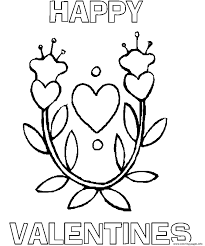 heart happy valentines s1d4d coloring pages printable