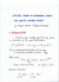 spectral theory of automorphic forms and analytic number theory