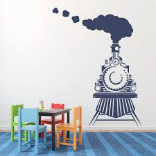 boy wall decal etsy train wall decal front view bedroom boy