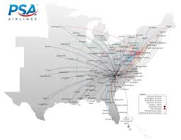 Dca Map Flight Route Map Fly With Us Psa Airlines