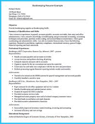 Sample Bookkeeping Resume by Bookkeeper Is A Position That Is Responsible For Some Basic Tasks