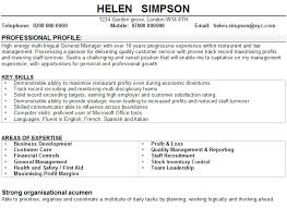 Sample CV for restaurant managers Professional CV Writing Services