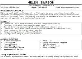 Sample CV for Restaurant Managers Sample CV for restaurant managers