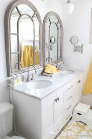 Bathroom Cabinet With Mirror And Light by Remodelaholic How To Remove And Reuse A Large Builder Grade Mirror