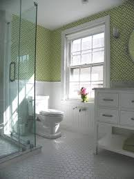 Bathroom Tile Ideas Traditional Colors Magnificent Hexagon Tilein Bathroom Scandinavian With Glamorous