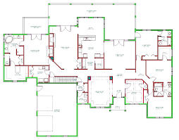 one floor house plans 5 bedroom ranch unbelievable open corglife