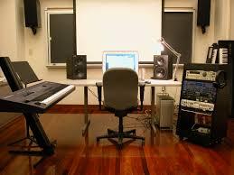 interior modern style home music studio design with white