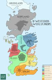 Map Of Europe During The Cold War by This Map Of Westeros Shows The European Equivalents Of The Seven