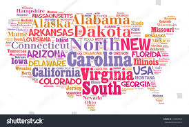 United States Map Major Cities by United States Map Words Cloud Major Stock Photo 104965325