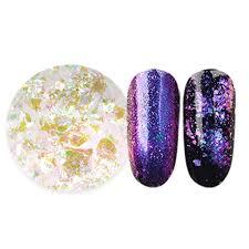 transparent chameleon magic effect flakes nail star sky glitter