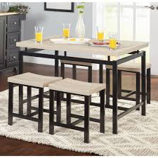 Five Piece Dining Room Sets 5 Piece Delano Dining Set Natural Walmart Com