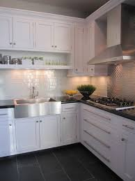 Off White Kitchen Cabinets With Black Countertops Kitchen White Cabinet Dark Grey Floor Tiles Lovely Kitchens