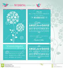 Card Invitation Modern Wedding Invitation Card Set Royalty Free Stock Image