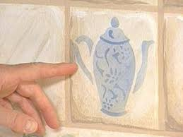 kitchen diy painting a ceramic tile backsplash how to paint in