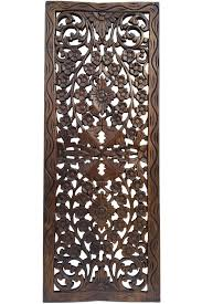 Shoppers Stop Home Decor by Floral Wood Carved Wall Panel Wall Hanging Asian Home Decor