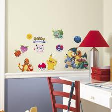 pokemon wall stickers ebay 24 new iconic pokemon peel stick wall decals boys room stickers pikachu decor