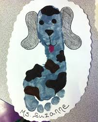 dog footprint craft for preschoolers crafty things pinterest