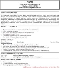 Resume Examples  Profile Education Background Best Resume Template To Use Language Additional Interest Achievements Hobbies Dayjob