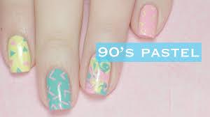 easy pastel nail art designs 90 u0027s inspired youtube