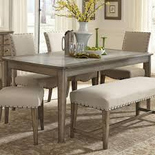liberty furniture weatherford rustic casual rectangular leg table