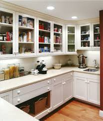 modern butlers pantry kitchen traditional with glass door wood